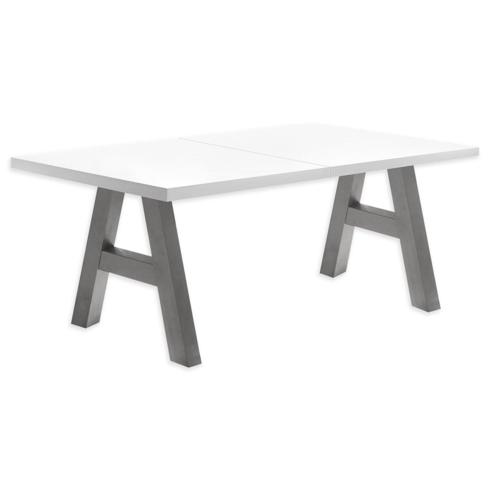 tisch mister a wei graphit ausziehbar esstische sitzen essen esszimmer. Black Bedroom Furniture Sets. Home Design Ideas