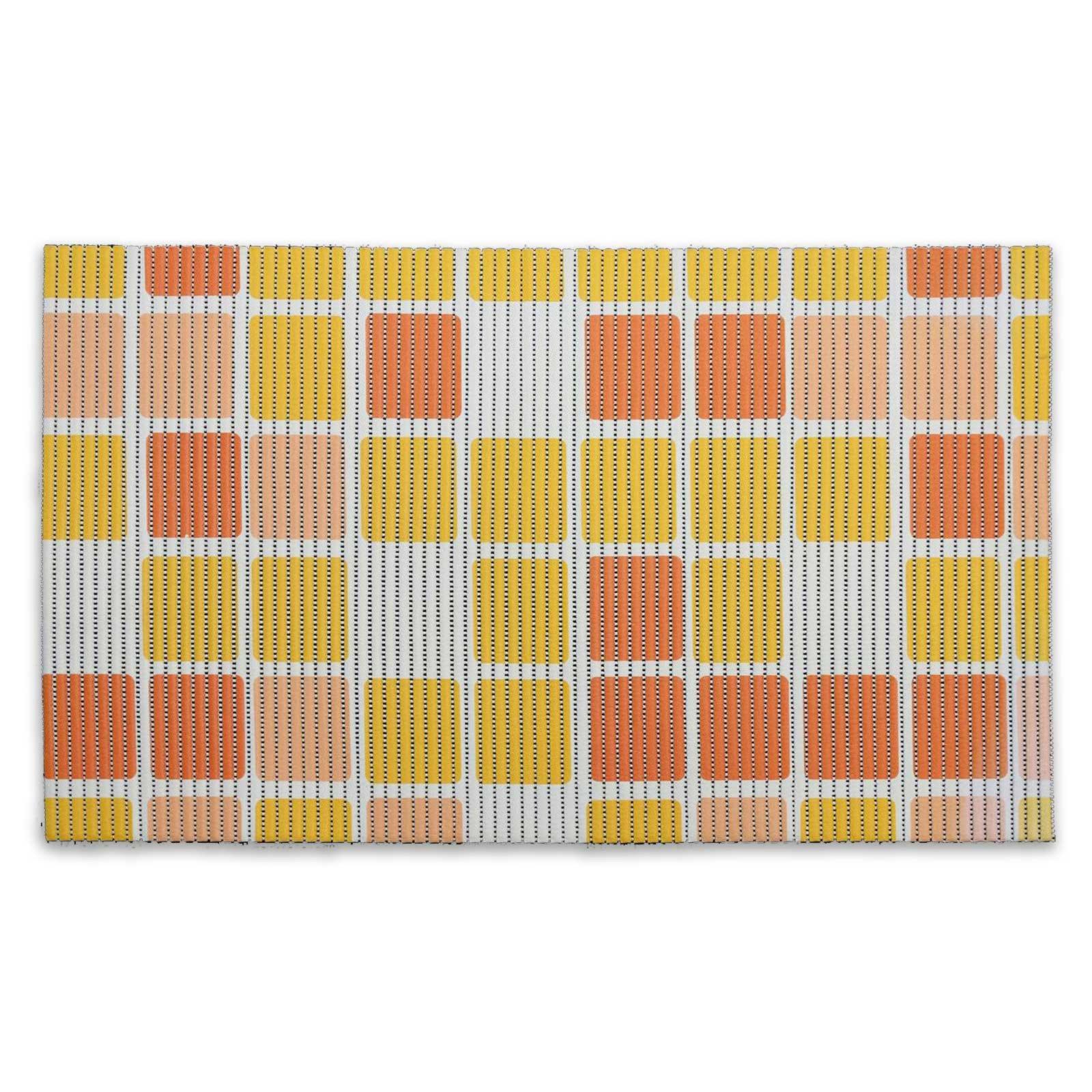 2er set universal bodenbelagsmatte bath orange. Black Bedroom Furniture Sets. Home Design Ideas
