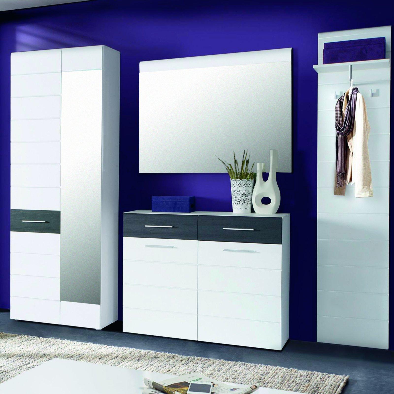 roller garderobenschrank polar wei hochglanz ebay. Black Bedroom Furniture Sets. Home Design Ideas