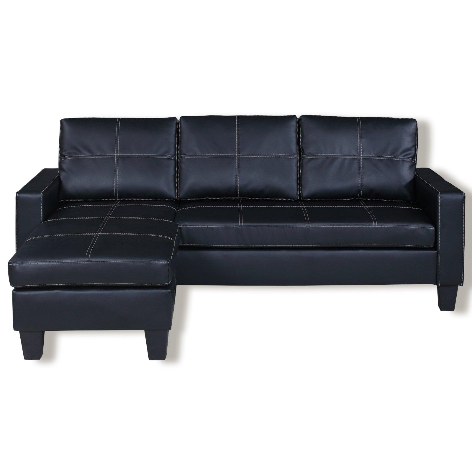 ecksofa schwarz kunstleder ecksofas l form sofas couches m bel roller m belhaus. Black Bedroom Furniture Sets. Home Design Ideas