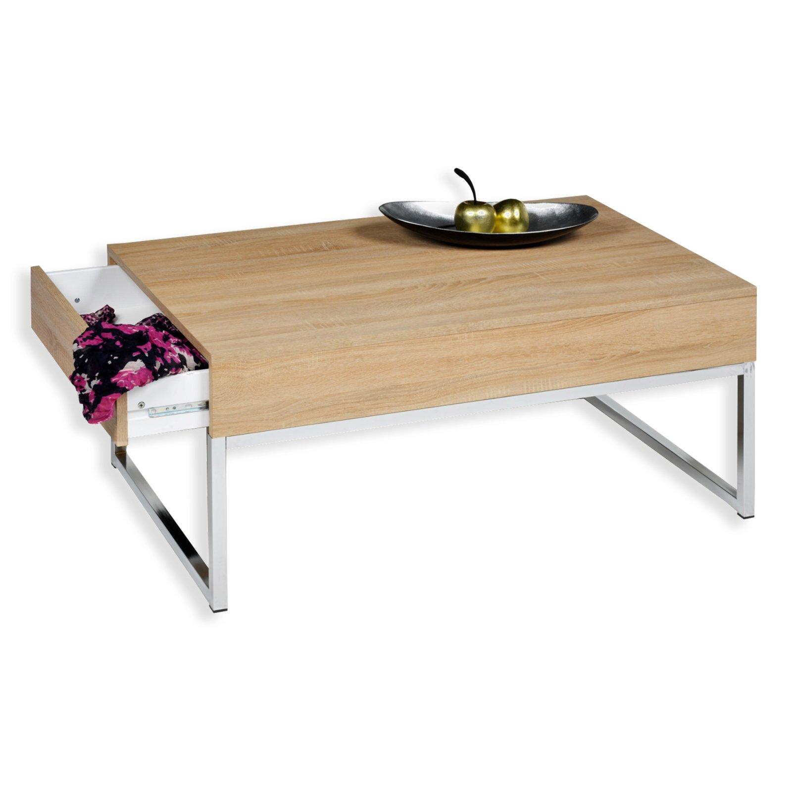 couchtisch napoli sonoma eiche mit schubkasten couchtische wohnzimmer wohnbereiche. Black Bedroom Furniture Sets. Home Design Ideas