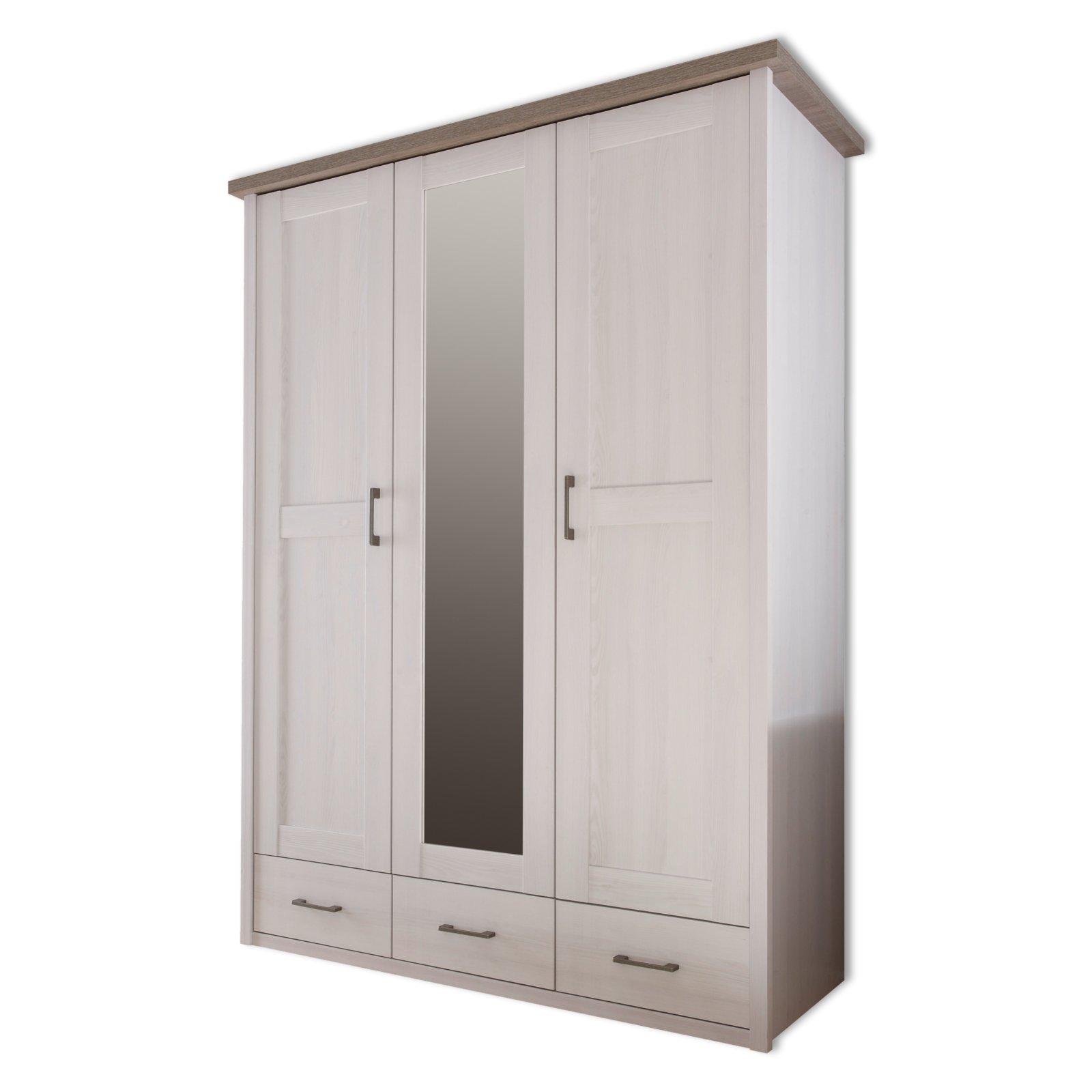 dreht renschrank luca pinie wei tr ffel spiegel 148 cm schlafzimmer luca. Black Bedroom Furniture Sets. Home Design Ideas