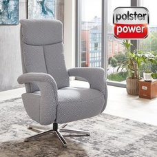 polsterpower Relaxsessel - blau - Relaxfunktion