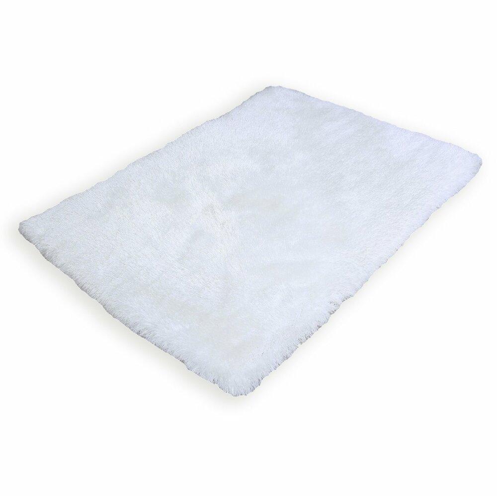 shaggy teppich potala wei 120x170 cm hochflor shaggyteppiche teppiche l ufer. Black Bedroom Furniture Sets. Home Design Ideas