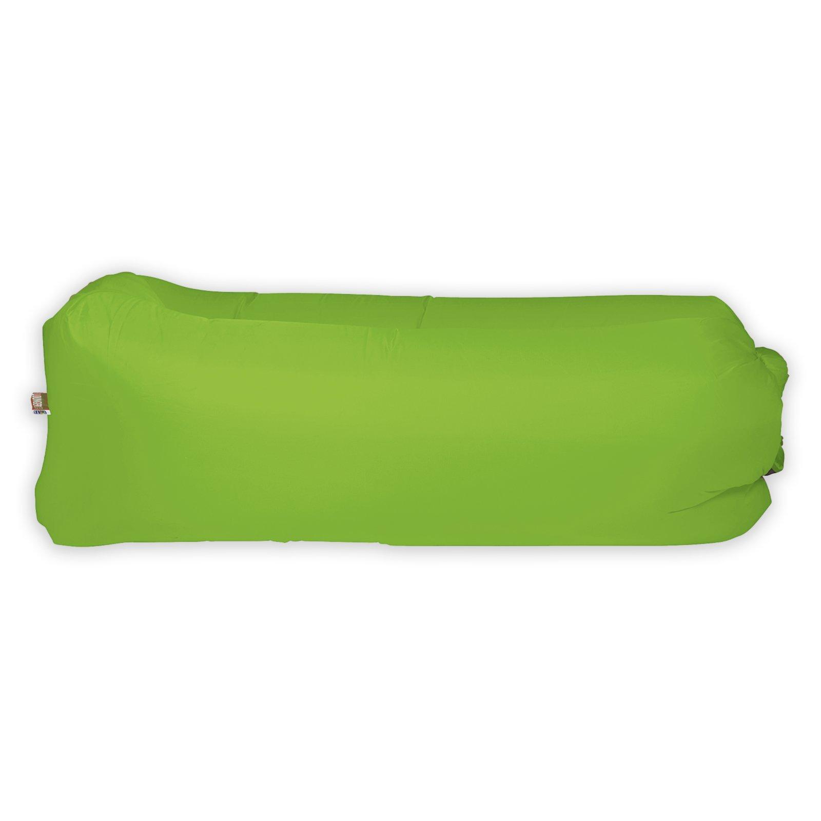 LOUNGER TO GO Luftsofa - grün - mit Tragetasche