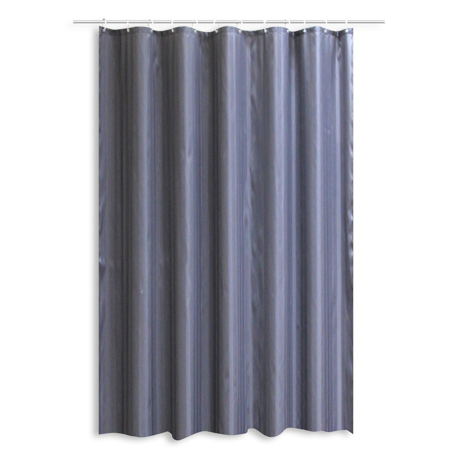 duschvorhang hilton anthrazit 180x200 cm duschvorh nge rollos badezimmer. Black Bedroom Furniture Sets. Home Design Ideas