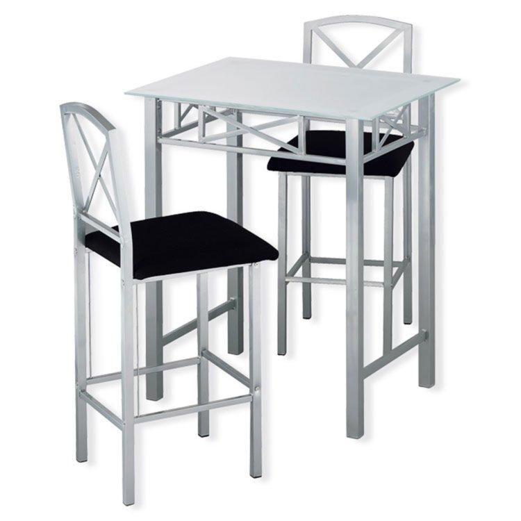 bar set fergie silber schwarz bar sets barm bel m bel roller m belhaus. Black Bedroom Furniture Sets. Home Design Ideas