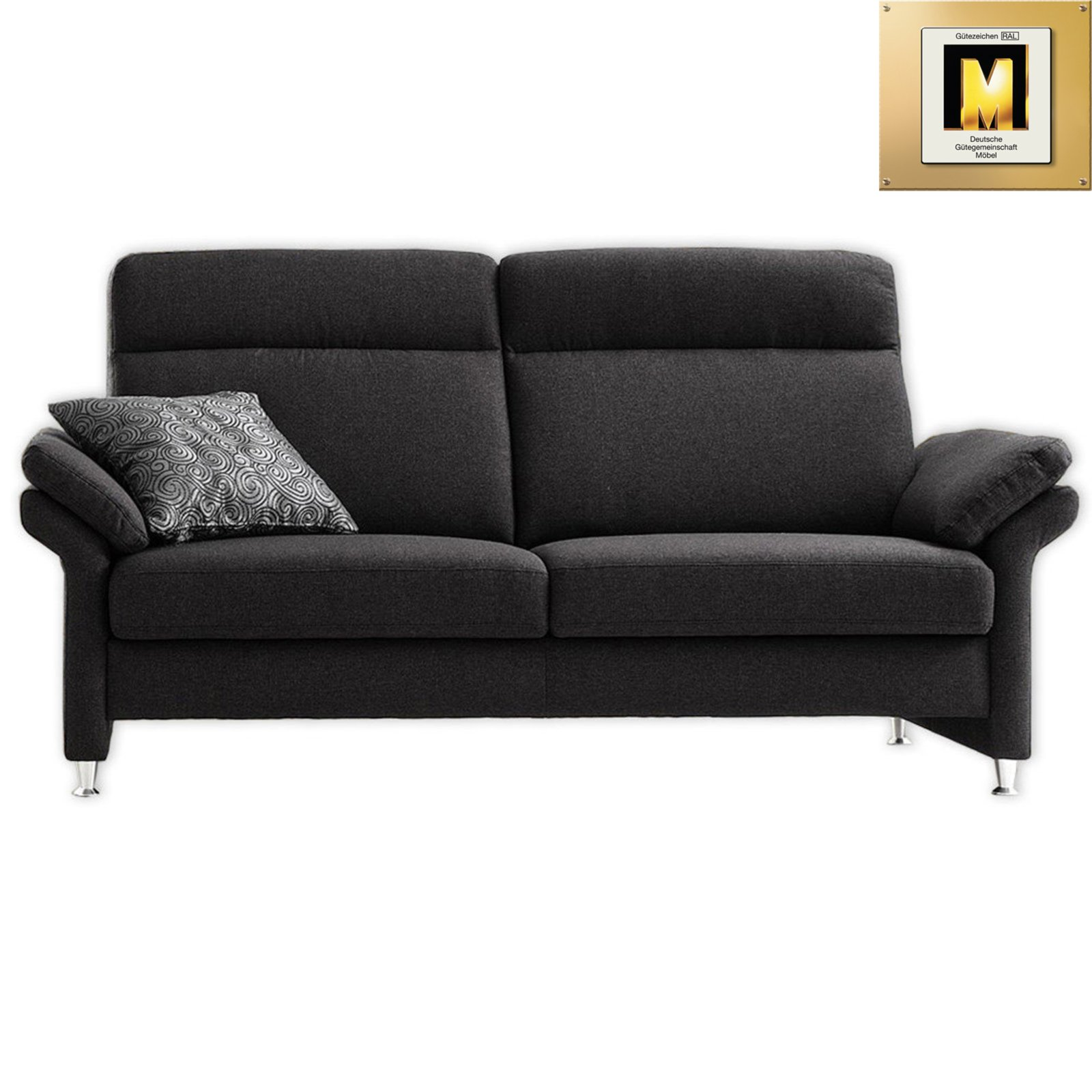 3 sitzer sofa anthrazit mit federkern einzelsofas 2er 3er 4er sofas couches. Black Bedroom Furniture Sets. Home Design Ideas