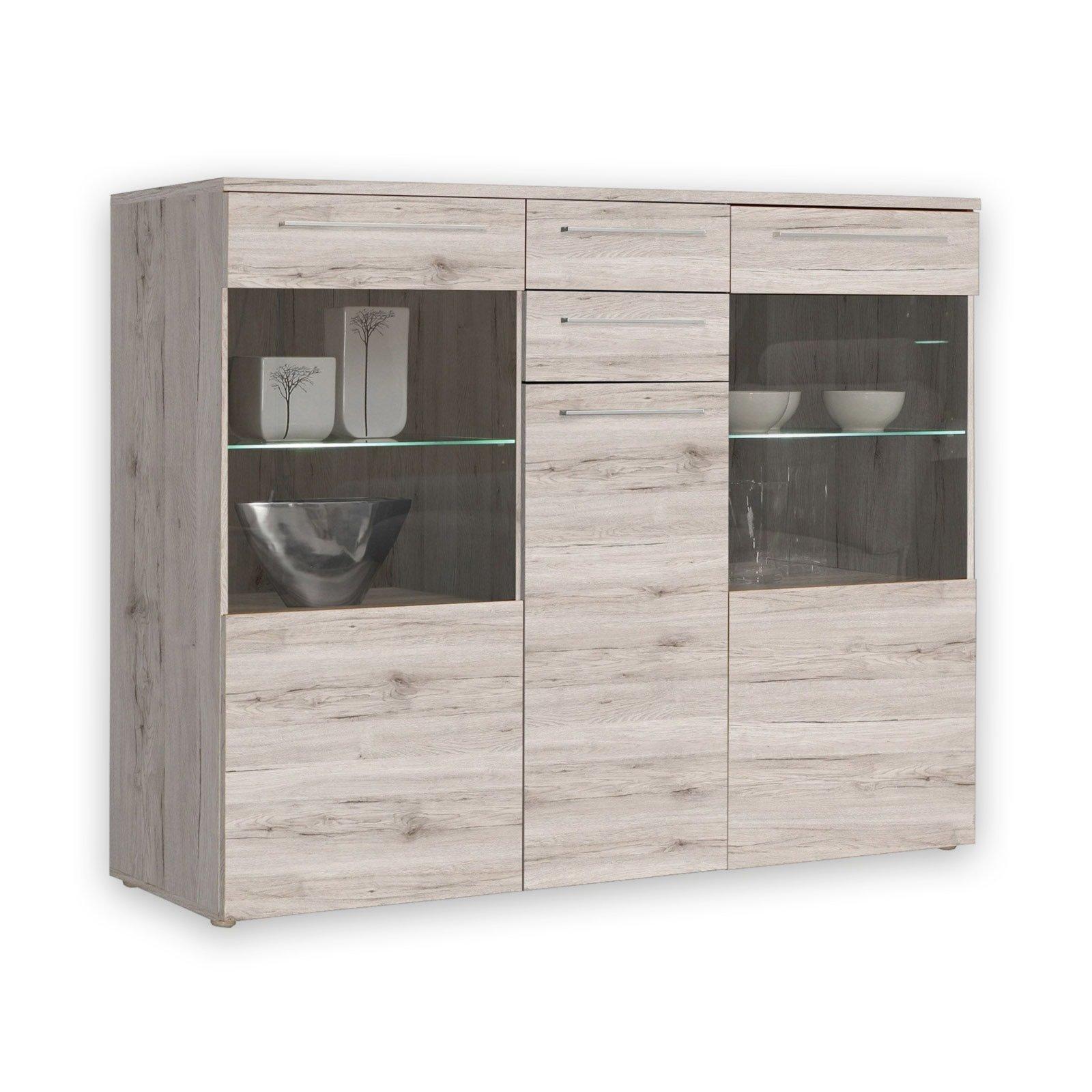vitrine savoy sandeiche mit beleuchtung vitrinen wohnzimmer wohnbereiche roller. Black Bedroom Furniture Sets. Home Design Ideas