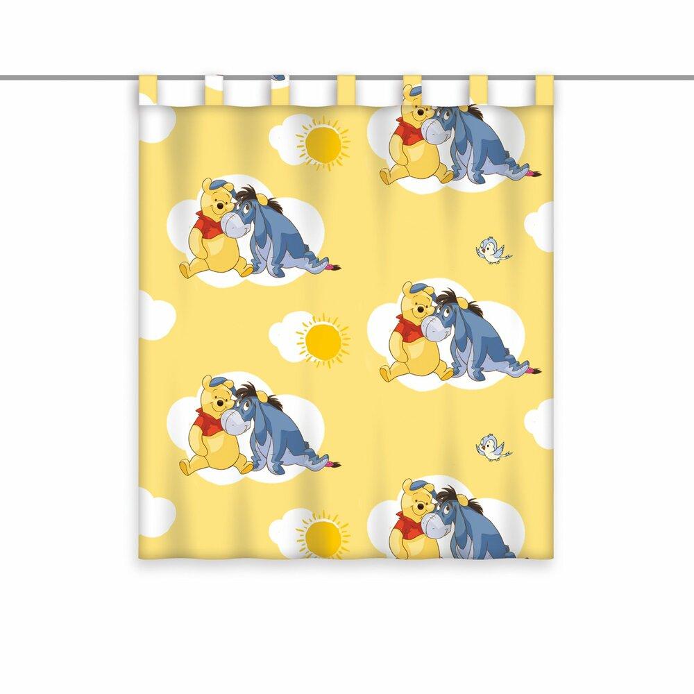 Schlaufenschal winnie pooh gelb 140x160 cm kindergardinen gardinen vorh nge deko - Winnie pooh deko ...