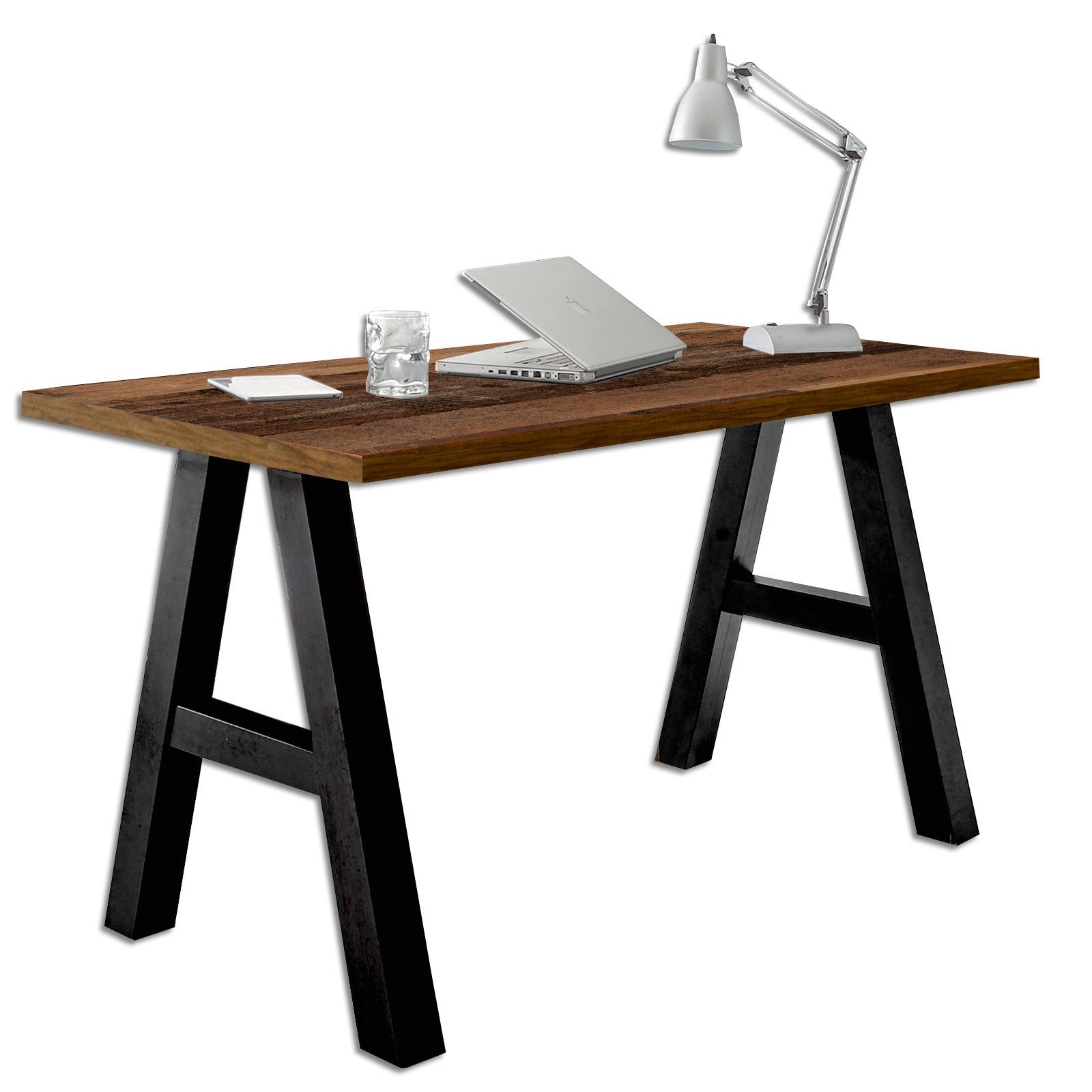 Schreibtisch Texas Oak Schwarzstahl 140 Cm Online Bei Roller Kaufen
