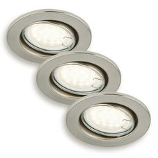 3er-Set LED-Einbauspots - Nickel matt - schwenkbar