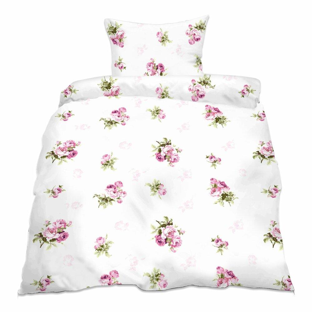 baumwoll bettw sche rosemarie 155 x 220 cm bettw sche bettw sche bettlaken. Black Bedroom Furniture Sets. Home Design Ideas