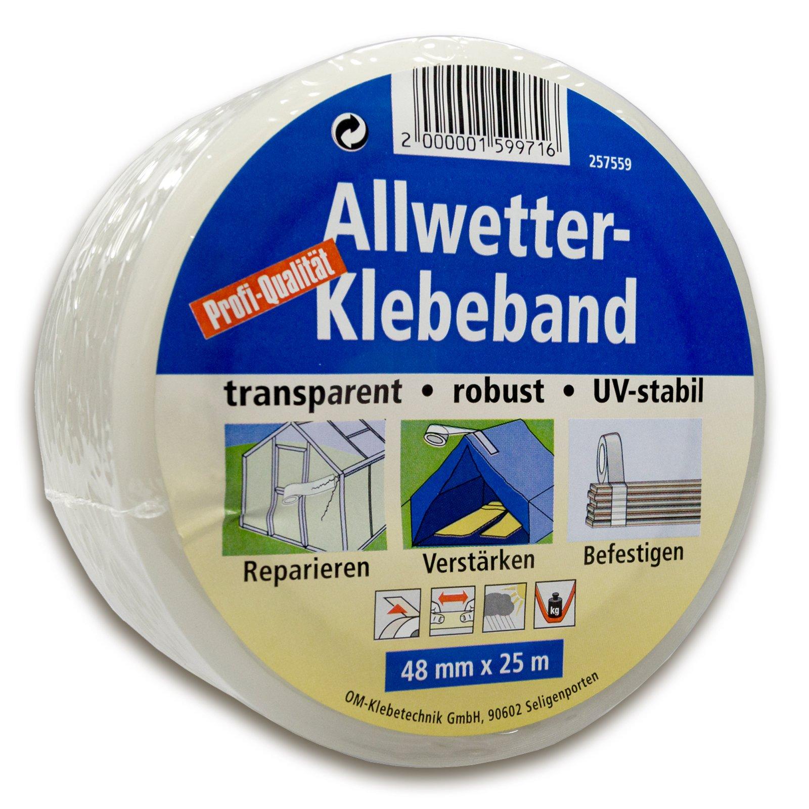 Allwetter-Klebeband - transparent - 25 Meter