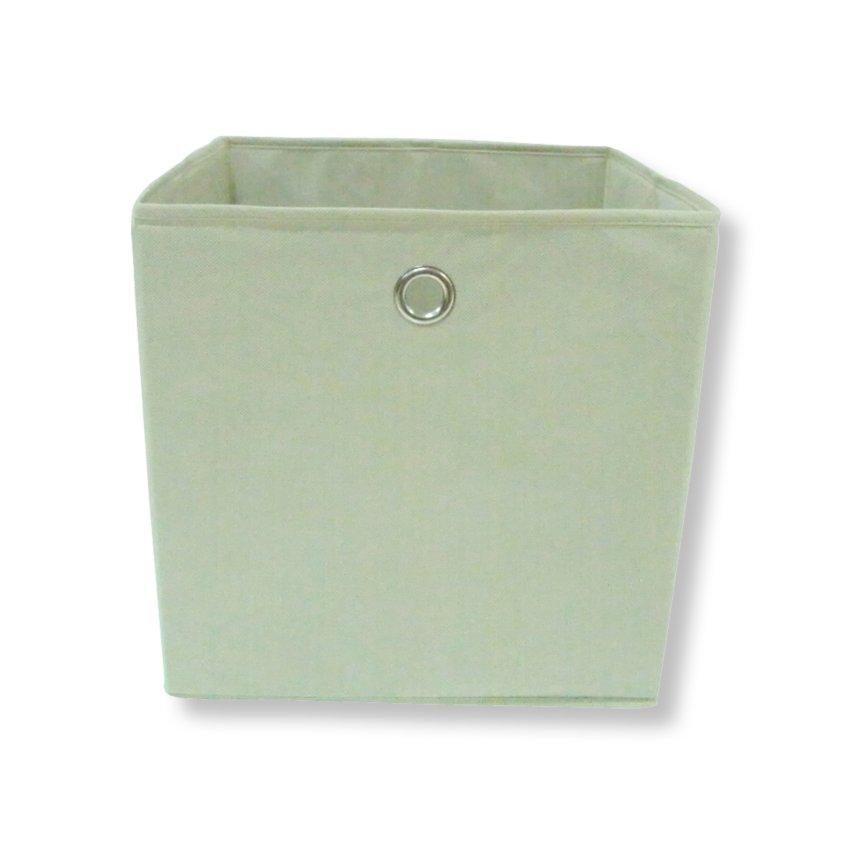 Faltbox - natur - mit Metallöse - 32x32 cm
