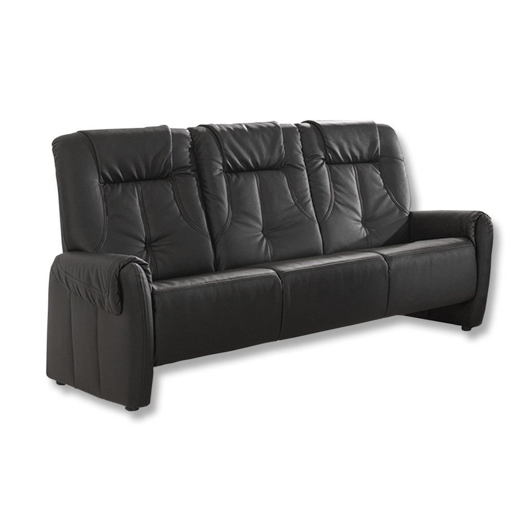 roller 3 sitzer sofa schwarz kunstleder ebay. Black Bedroom Furniture Sets. Home Design Ideas
