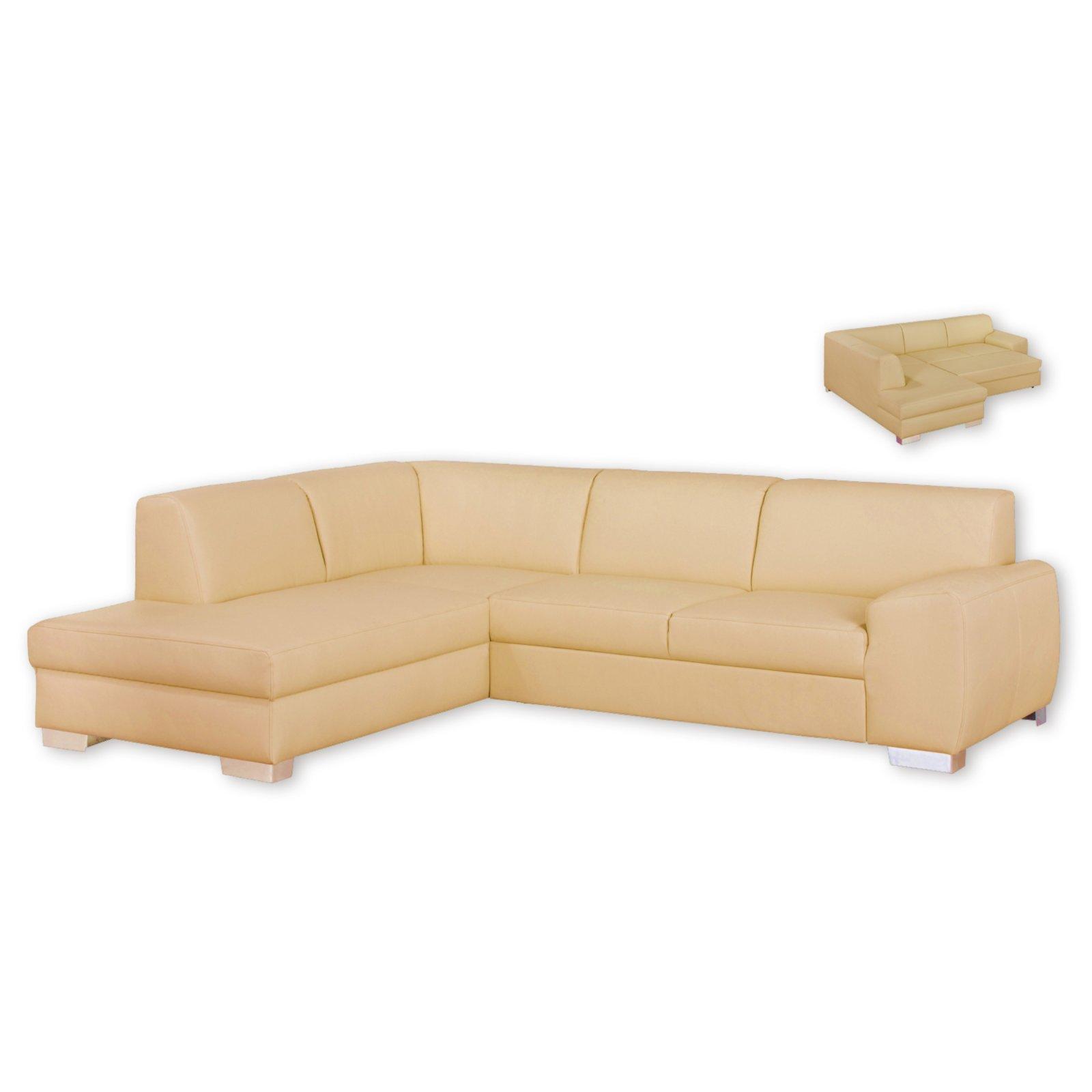 ecksofa beige liegefunktion ottomane links. Black Bedroom Furniture Sets. Home Design Ideas