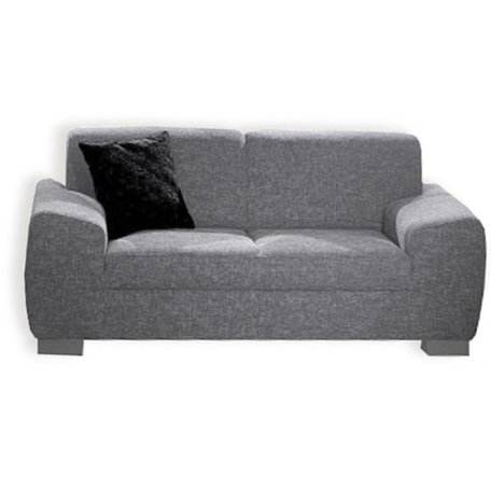 2 sitzer sofa silber mit federkernangebot bei roller. Black Bedroom Furniture Sets. Home Design Ideas