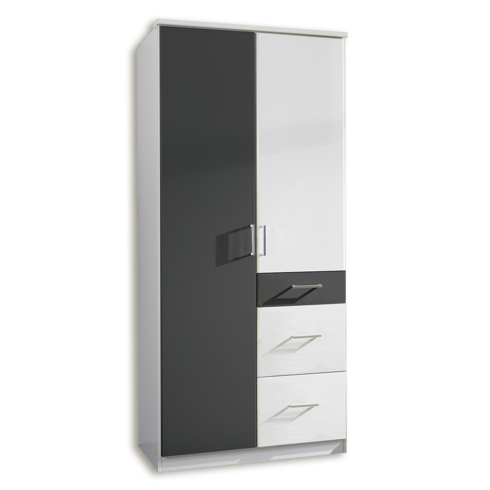 kleiderschrank click alpinwei anthrazit 90 cm breit. Black Bedroom Furniture Sets. Home Design Ideas