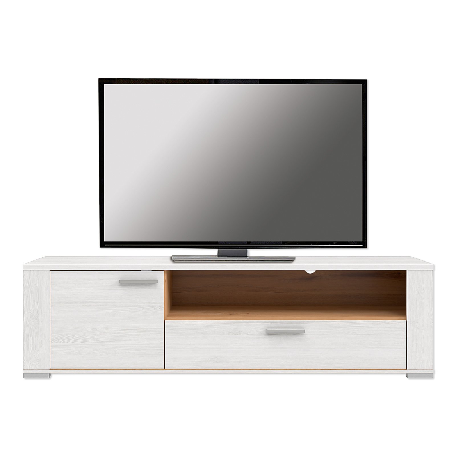 lowboard dany pinie wei eiche 160x45 cm tv. Black Bedroom Furniture Sets. Home Design Ideas