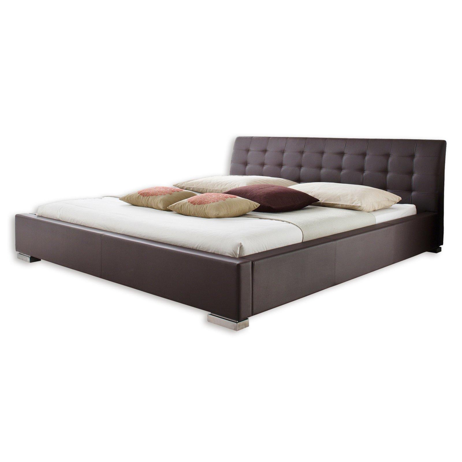 polsterbett isa braun kunstleder 200x200 cm bettgestelle betten m bel roller. Black Bedroom Furniture Sets. Home Design Ideas