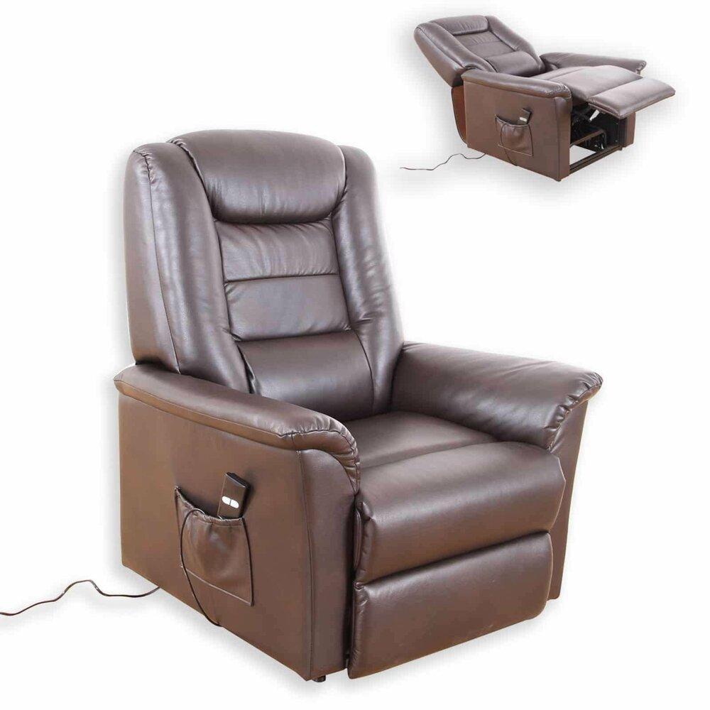 tv sessel dunkelbraun kunstleder elektronische. Black Bedroom Furniture Sets. Home Design Ideas