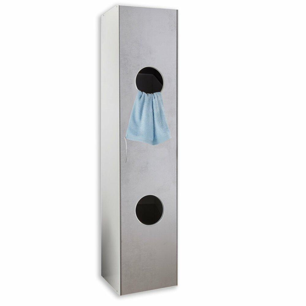 w scheschrank multiraumkonzept wei betonoptik 40x185x40 cm schranksystem multiraumkonzept. Black Bedroom Furniture Sets. Home Design Ideas