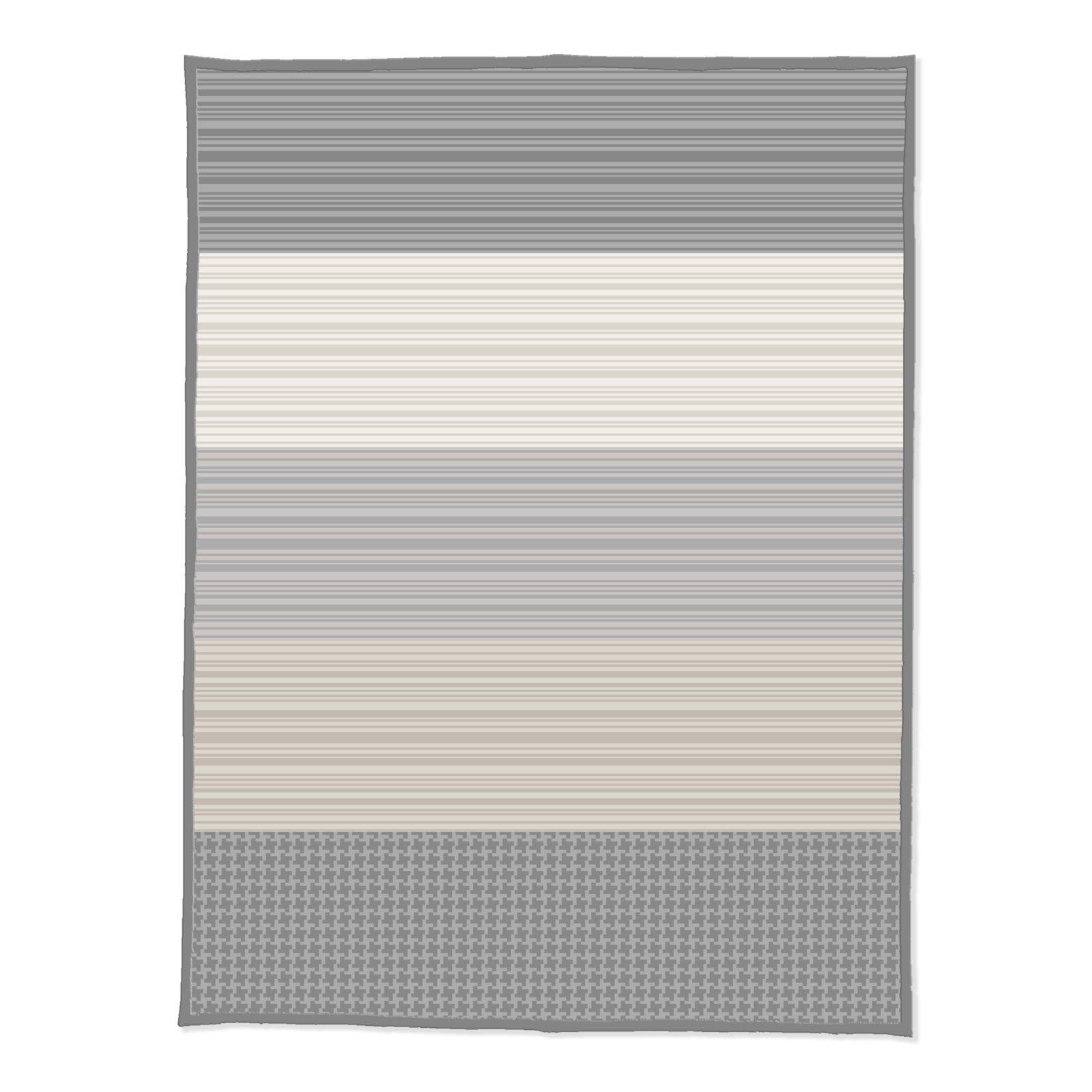 wohndecke beige grau gestreift 150x200 cm wohndecken fleecedecken heimtextilien. Black Bedroom Furniture Sets. Home Design Ideas