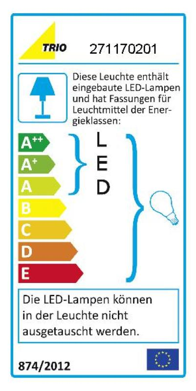 LED-Wand-Leselampe - Nickel - Stoff weiß