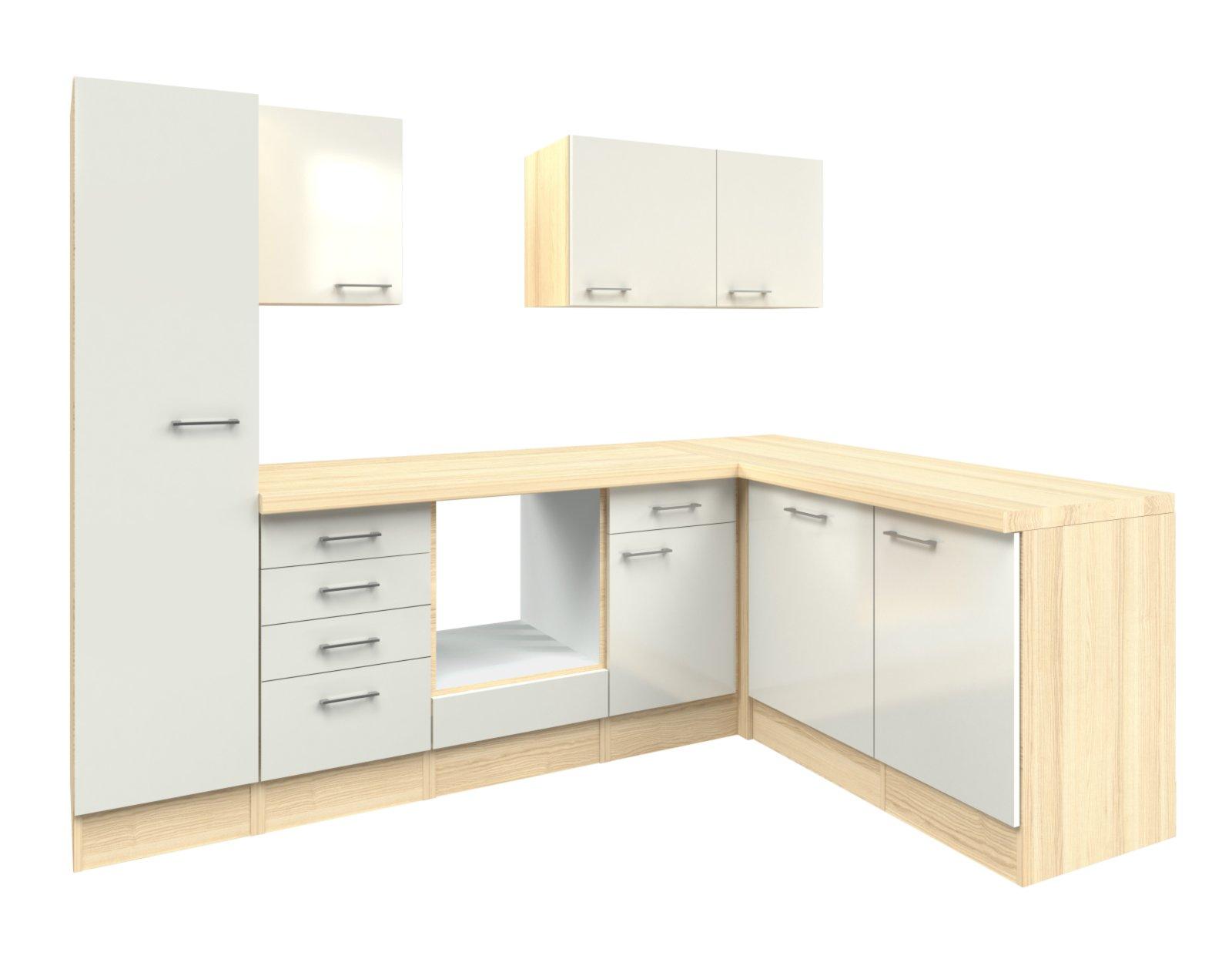 winkelk che abaco perlmutt akazie 270x170 cm. Black Bedroom Furniture Sets. Home Design Ideas