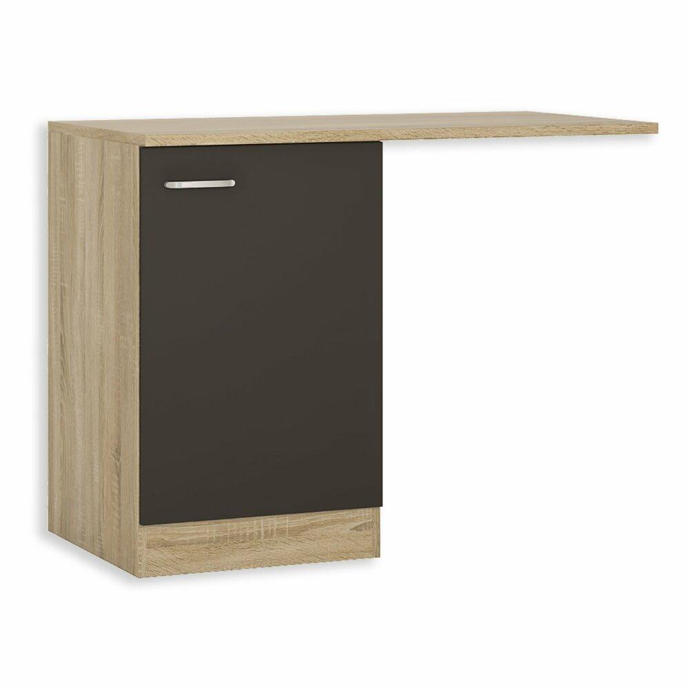sp lenunterschrank fox anthrazit sonoma eiche 110 cm. Black Bedroom Furniture Sets. Home Design Ideas