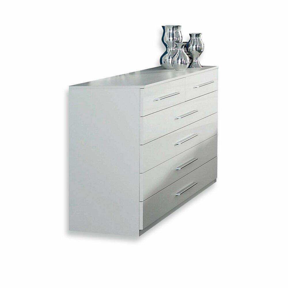 kommode imposa wei hochglanz 6 schubk sten kommoden sideboards m bel roller m belhaus. Black Bedroom Furniture Sets. Home Design Ideas