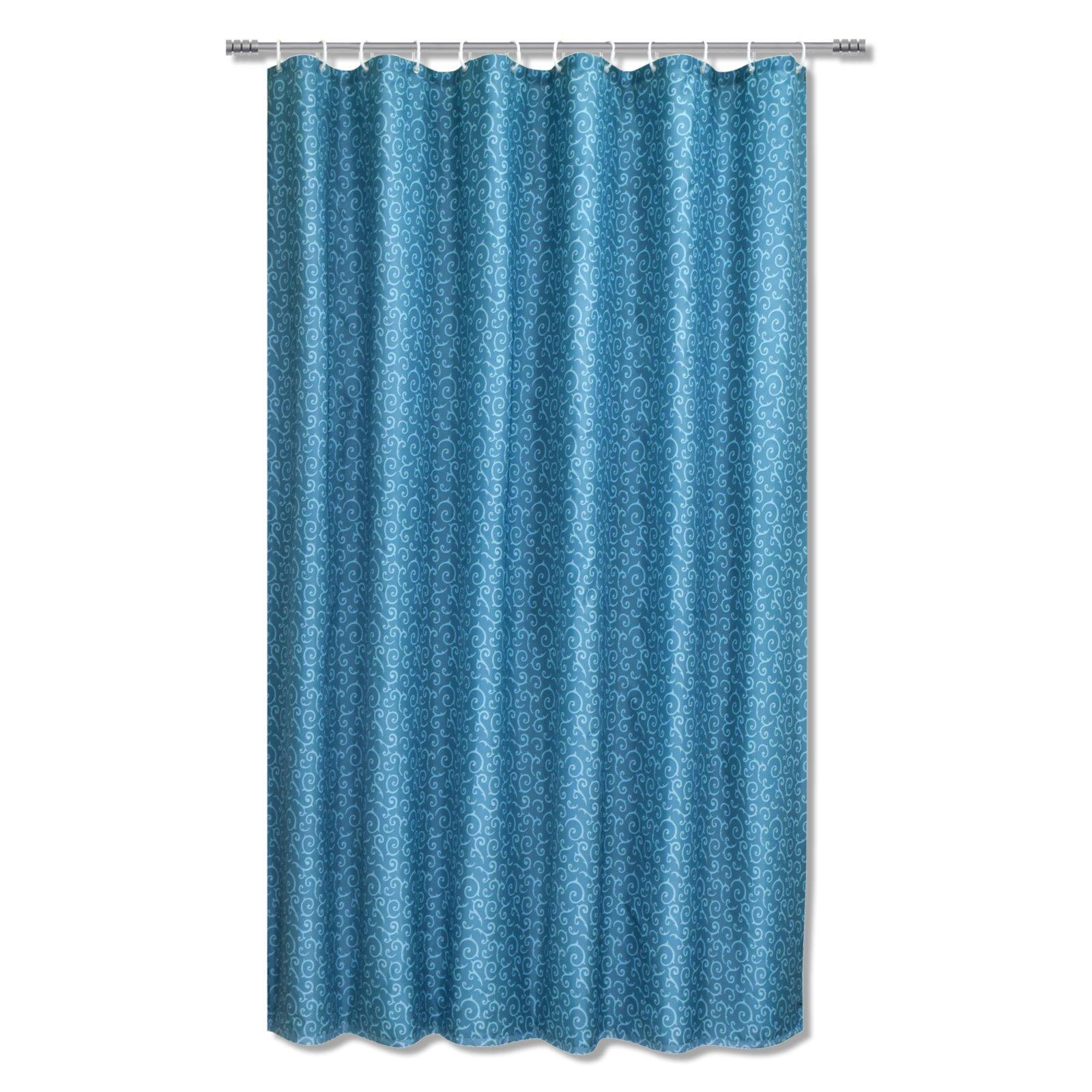 duschvorhang curl t rkis 180x200 cm duschvorh nge rollos badezimmer wohnbereiche. Black Bedroom Furniture Sets. Home Design Ideas
