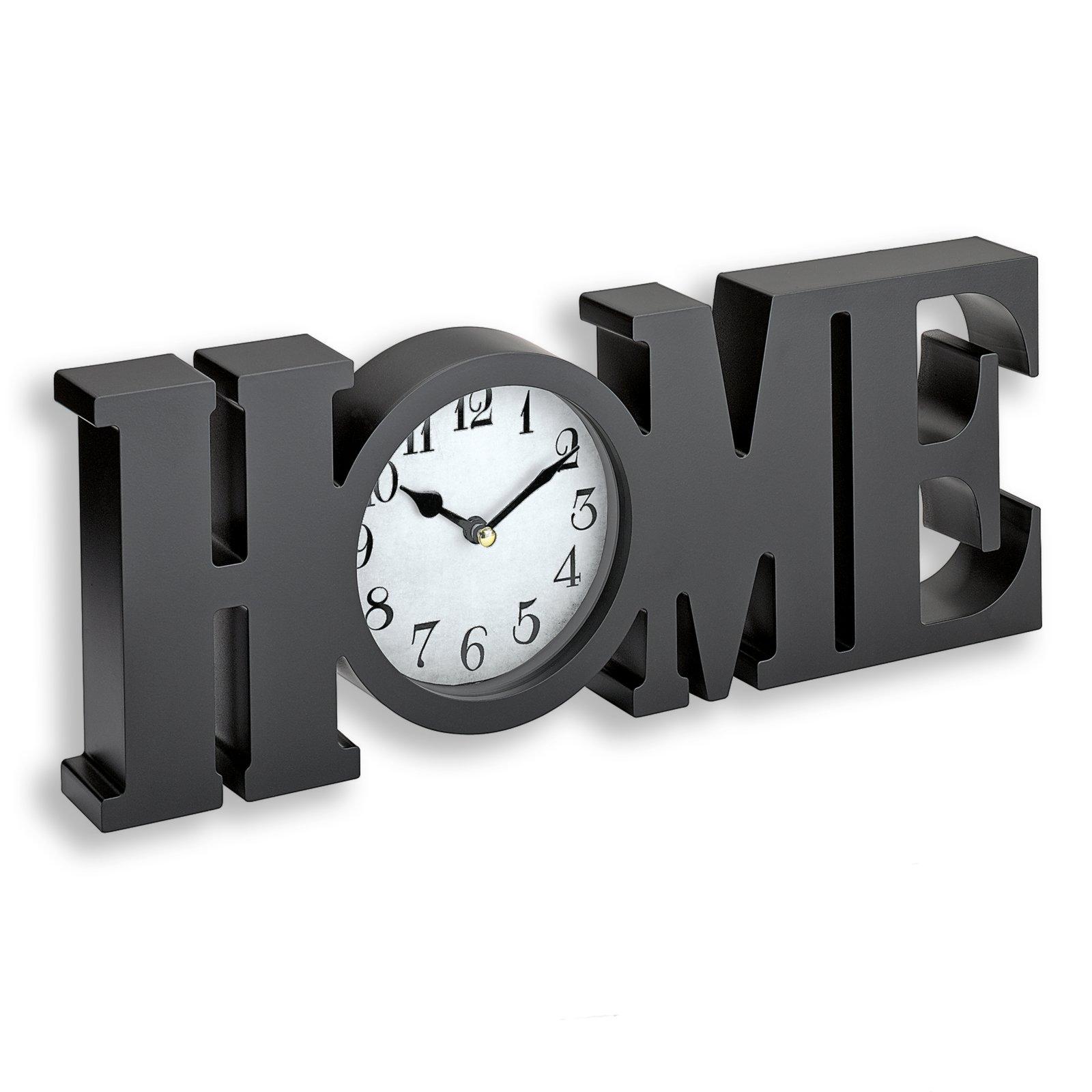tischuhr home schwarz 39x14 cm tischuhren uhren deko haushalt roller m belhaus. Black Bedroom Furniture Sets. Home Design Ideas