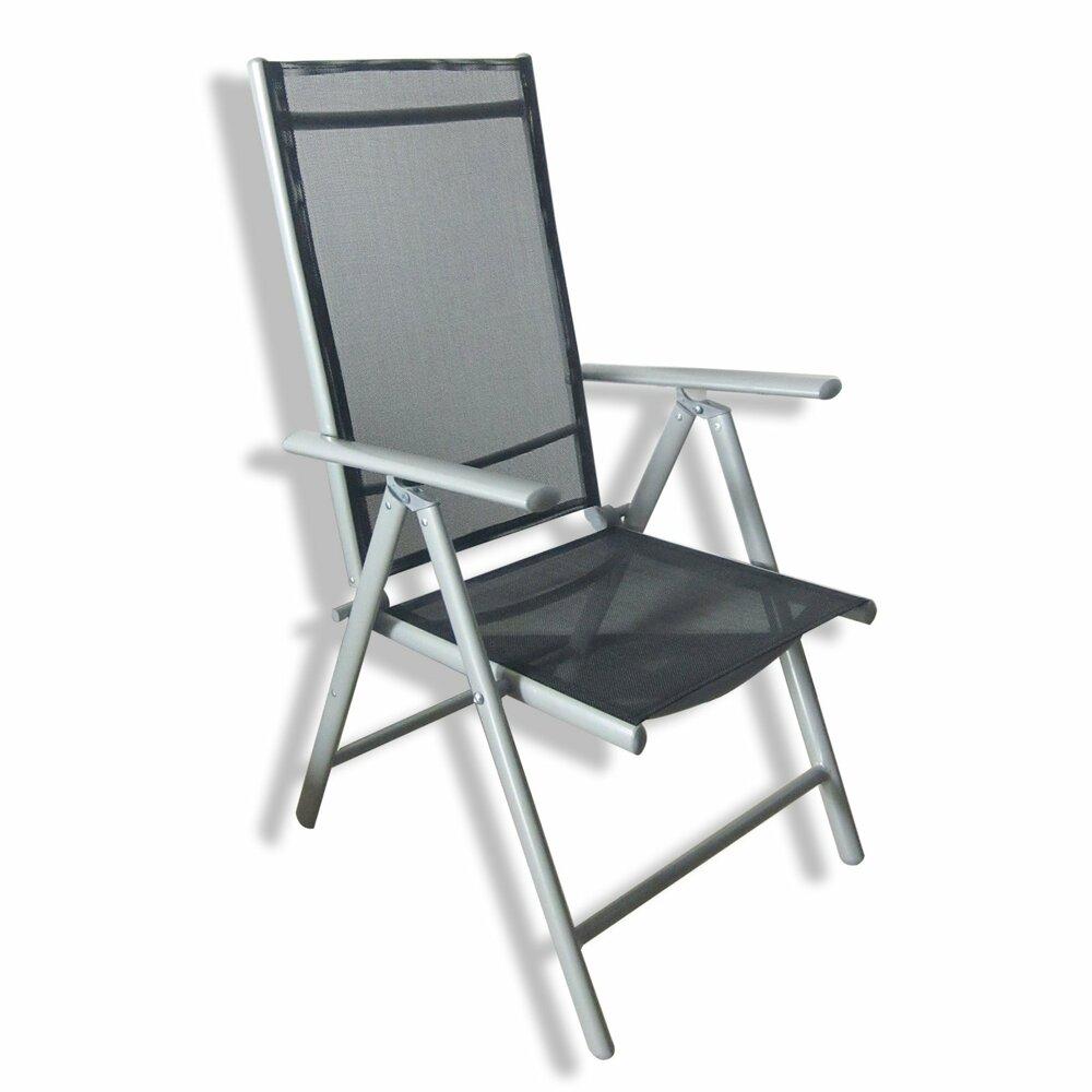 Gartenstühle klappbar  Gartenstuhl - schwarz - klappbar - 5-fach verstellbar ...