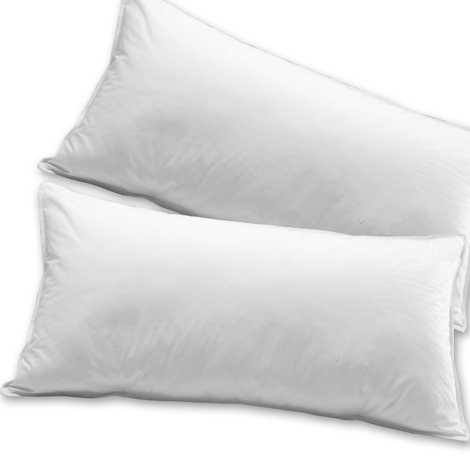 Einfache Dekoration Und Mobel Daunendecken Fuer Einen Erholsamen Schlaf 2 #18: 2er Pack Kopfkissen - Microfaser - 40x80 Cm