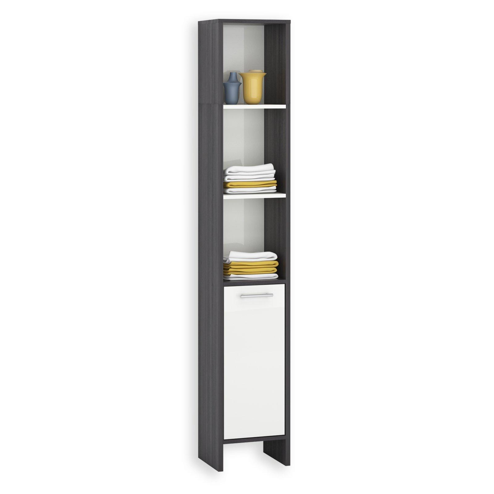 hochschrank marcus wei hochglanz esche grau 33x195 cm ebay. Black Bedroom Furniture Sets. Home Design Ideas