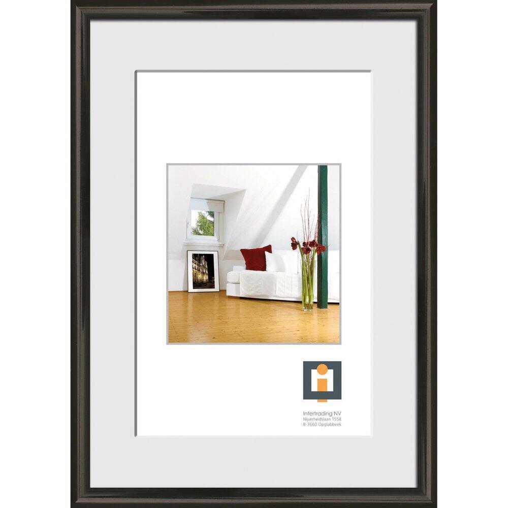 bilderrahmen schwarz kunststoff 60x80 cmangebot bei. Black Bedroom Furniture Sets. Home Design Ideas