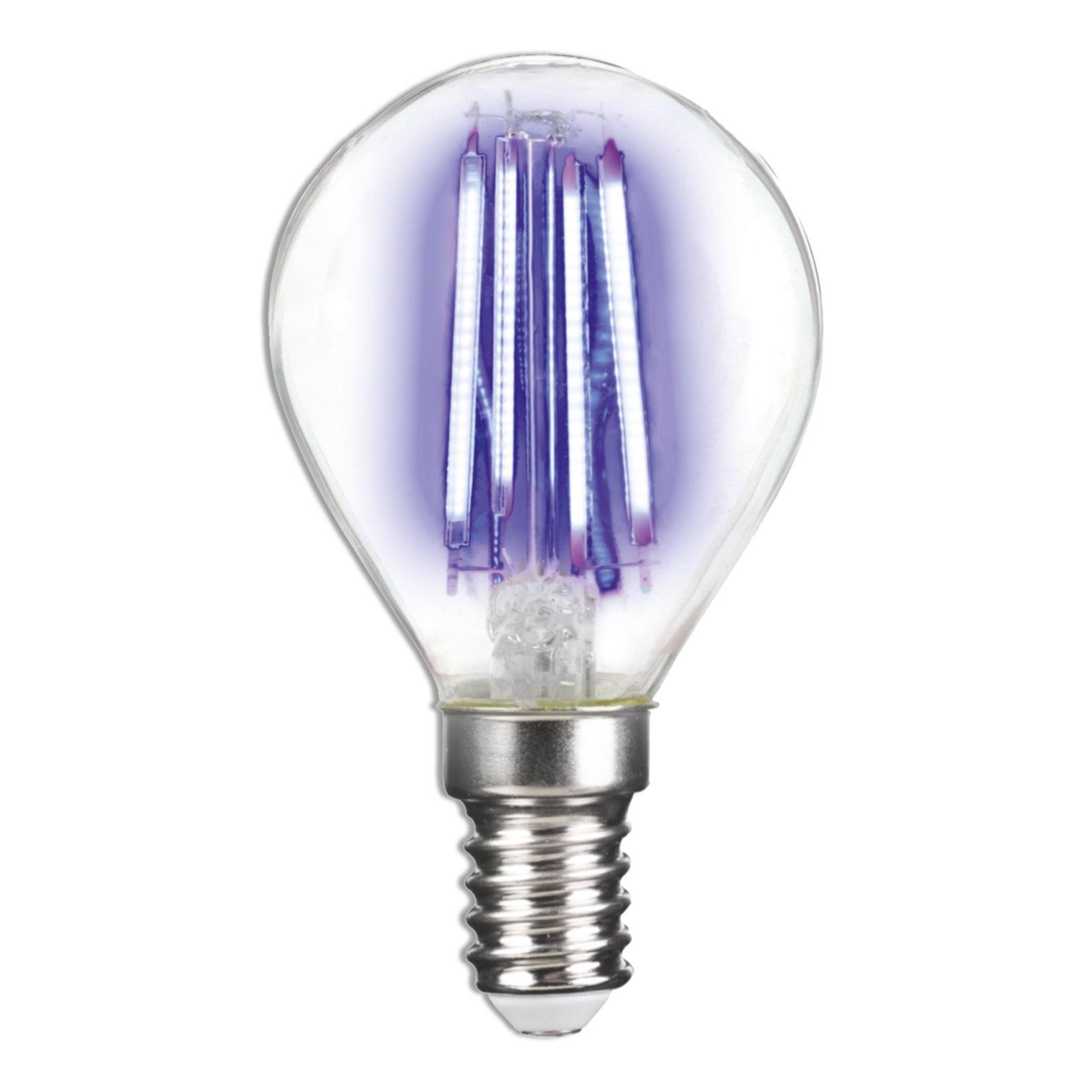 LED-Leuchtmittel LIGHTME - blau - E14 - 4 Watt