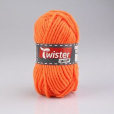 Wolle TWISTER SKATER - neon-orange - 50g