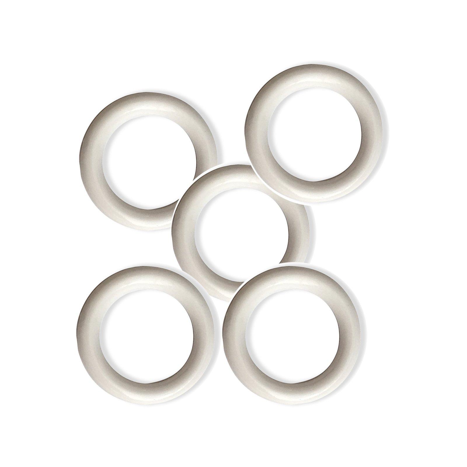 Gardinenringe - weiß - 20 Stück