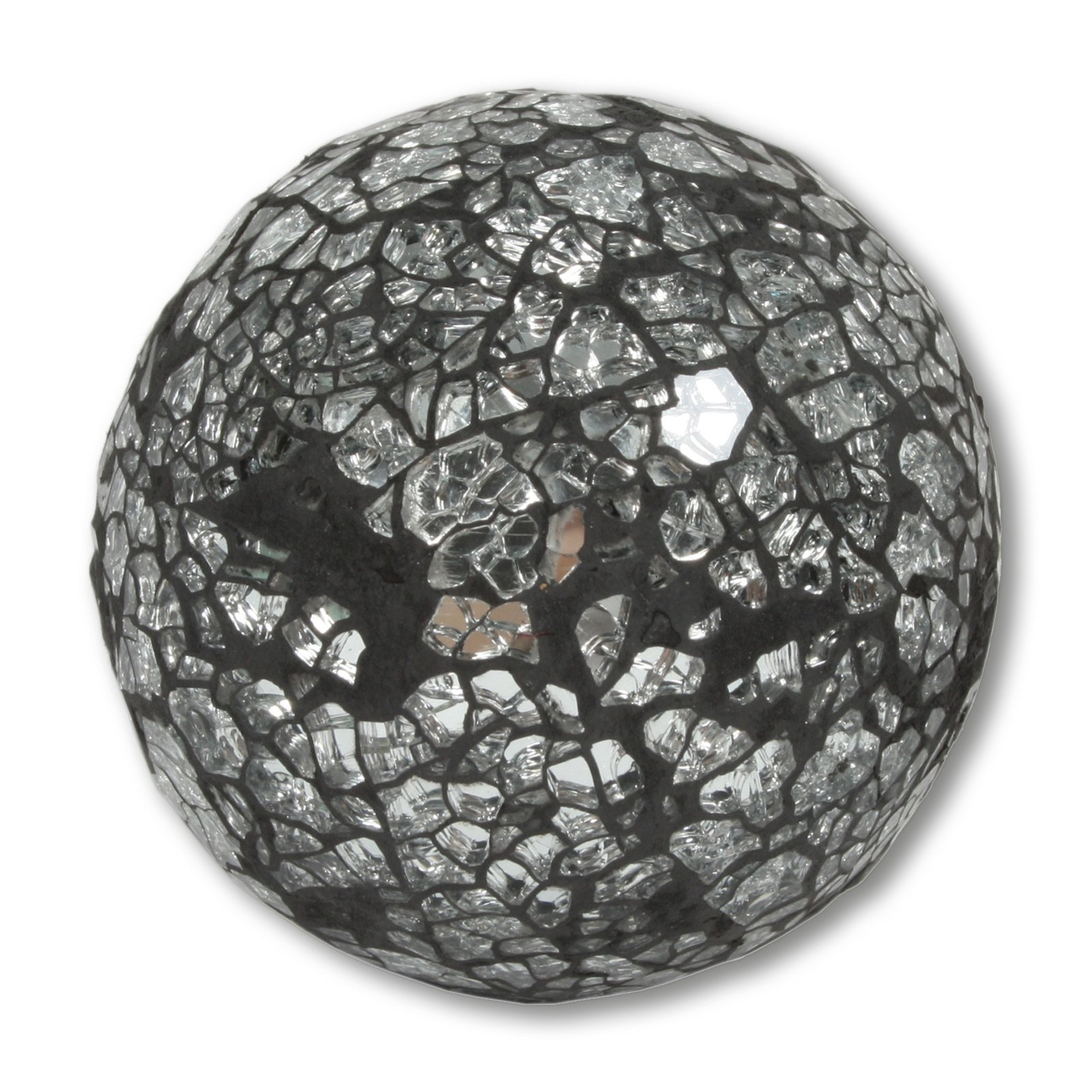 Deko-Kugel - silber - Mosaik - 8 cm Durchmesser