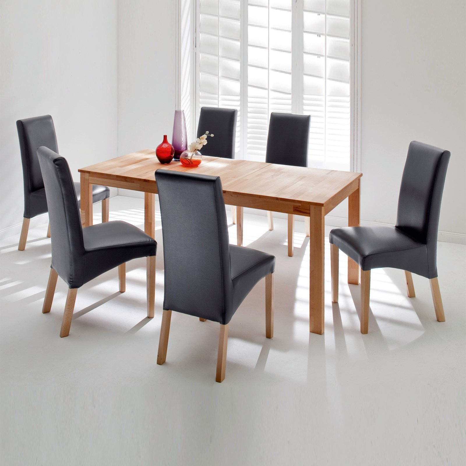 tisch fabian kernbuche massiv ausziehbar ebay. Black Bedroom Furniture Sets. Home Design Ideas