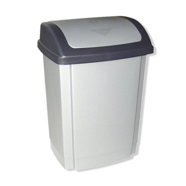 Abfallsammler silber/grau
