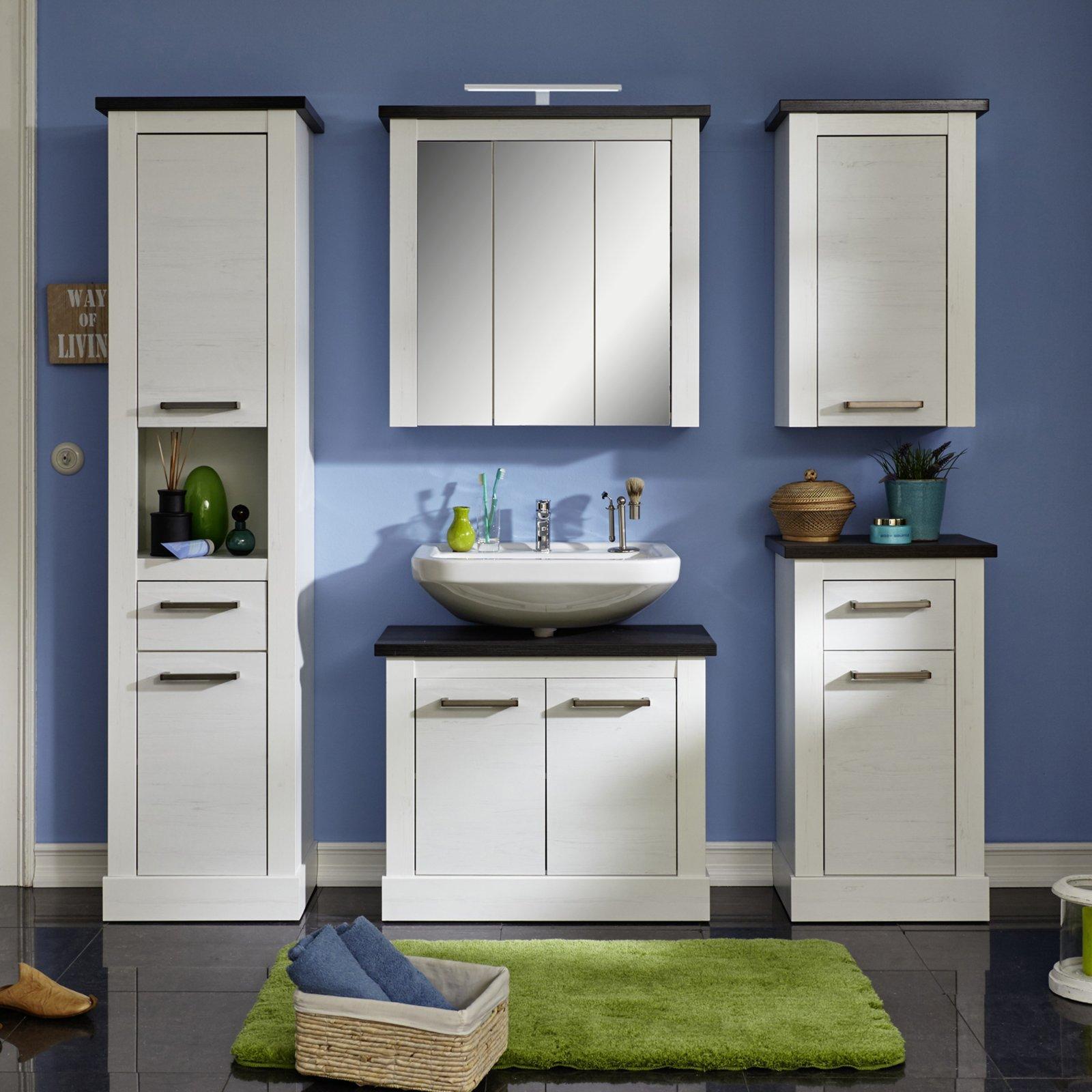 hochschrank montreal pinie wei wenge ebay. Black Bedroom Furniture Sets. Home Design Ideas