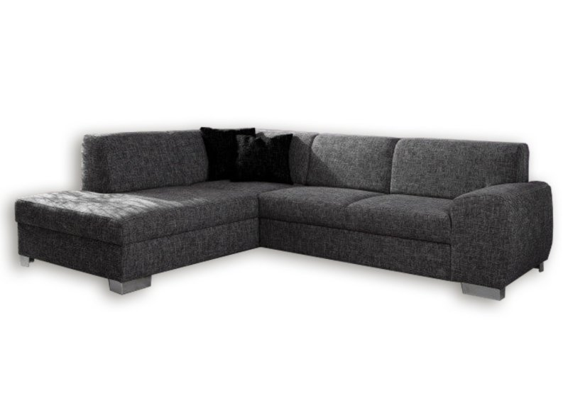 polsterecke dunkelgrau federkern ottomane links ecksofas l form sofas couches. Black Bedroom Furniture Sets. Home Design Ideas