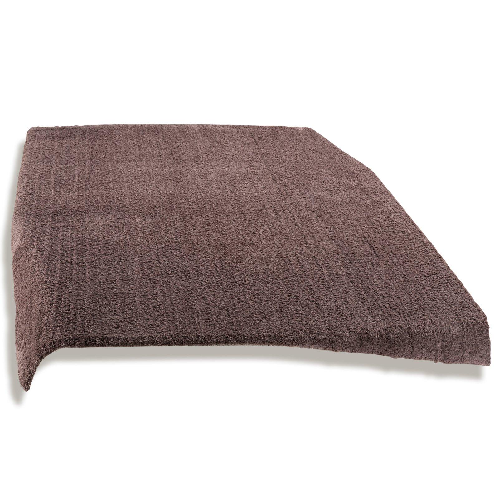 Teppich TIARA  braun  80×150 cm  Einfarbige Teppiche