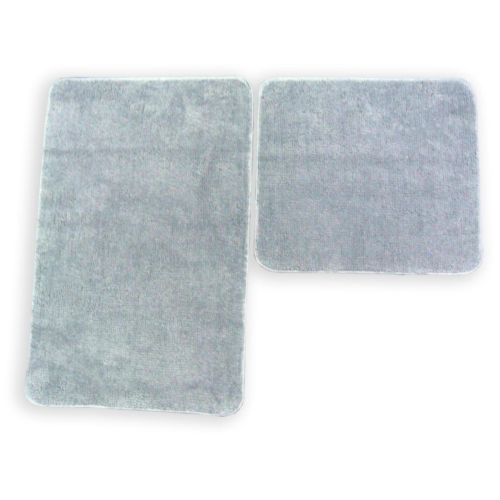 badgarnitur katy grau 2 teilig ohne ausschnitt badteppiche matten badtextilien. Black Bedroom Furniture Sets. Home Design Ideas