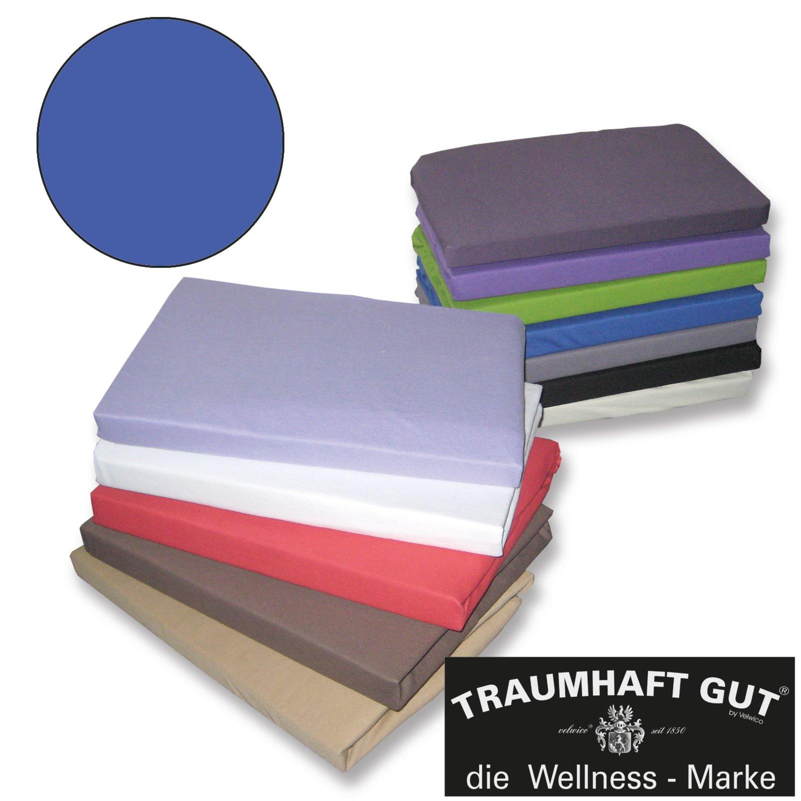jersey spannbettlaken traumhaft gut blau 180x200 cm bettlaken bettw sche bettlaken. Black Bedroom Furniture Sets. Home Design Ideas