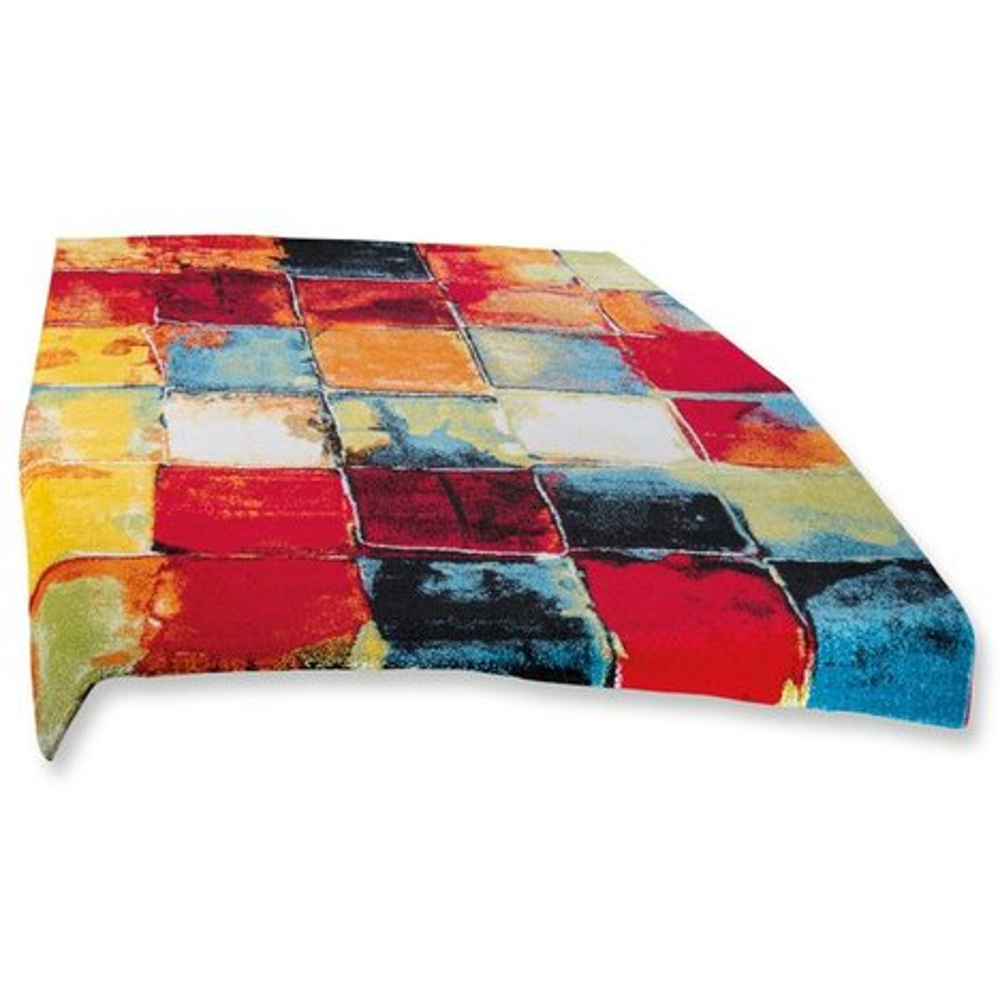 Teppich BELIS - bunte Quadrate - 160x230 cm | Gemusterte ...
